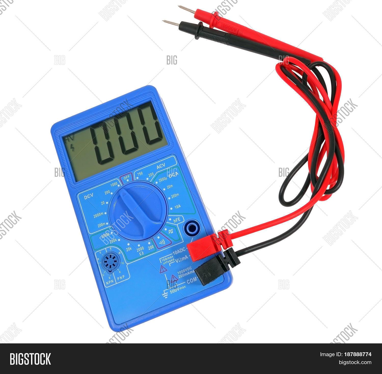 White Voltage Tester : Voltage tester on white background image photo bigstock