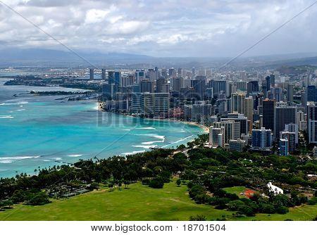 Waikiki from above