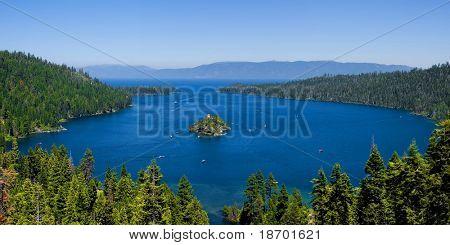 Panorama of Emerald Bay, Lake Tahoe