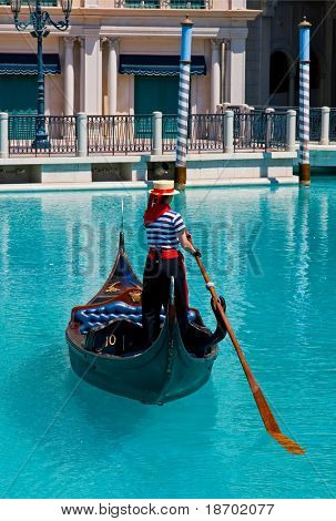 Gondola at Venetian Hotel in Las Vegas