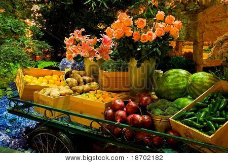 Fruits and Vegetables on the table