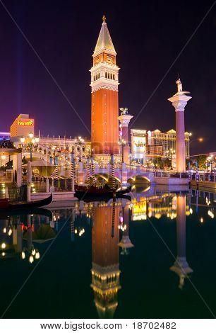 Venetian Las Vegas at night