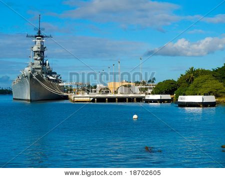 Battleship Missouri Memorial at Pearl Harbor in Honolulu