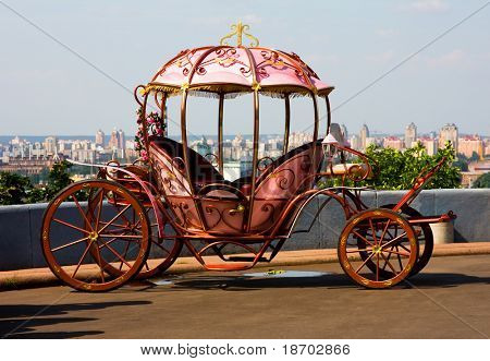 Classic carriage in Kyiv Ukraine