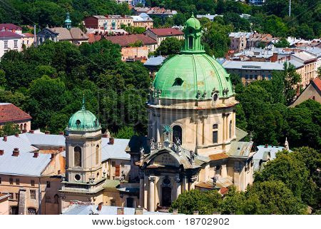 Churches in old Lviv, Ukraine