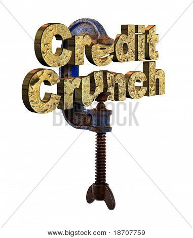 Credit crunch words in a vice