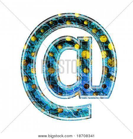 grunge 3d letter