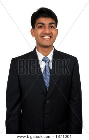 Young Indian Business Man Smiling