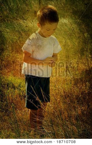 vintage picture of a young child