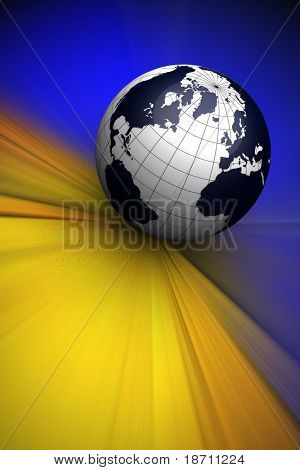 3d earth on futuristic background