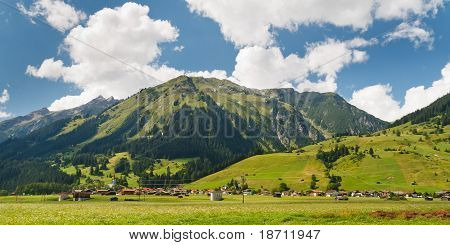 Village In The Alps, Austria