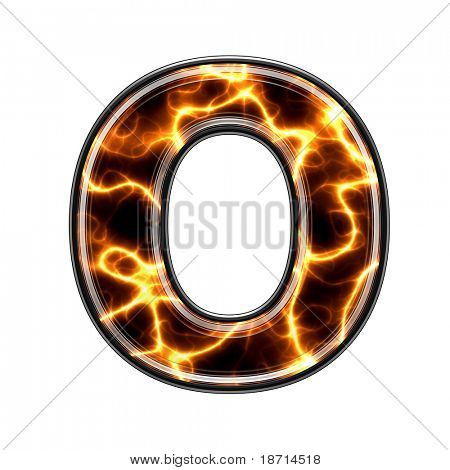 o-3d letter with electric texture