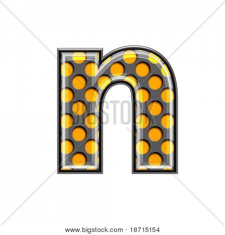 abstract 3d halftone letter -