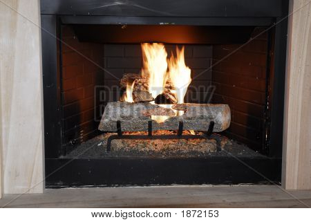 Glowing Fireplace