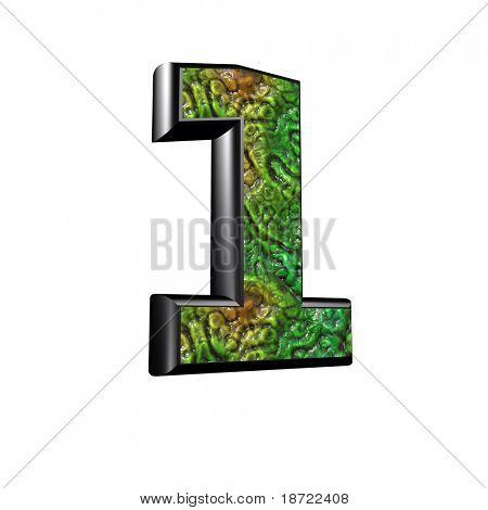 3d digit with alien skin texture - 1