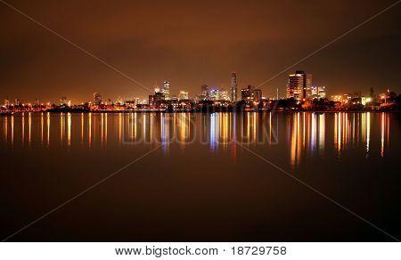 St. Kilda Strand Küste bei Nacht