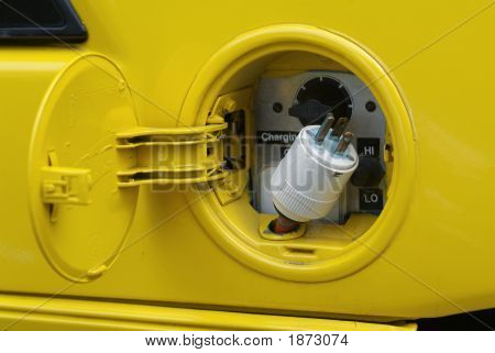 Yellow Electric Plug