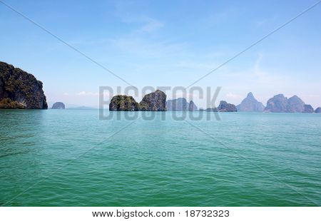Thailand Island in the Phuket Province, Summer
