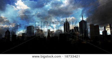 Deep grunge city