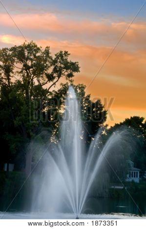 Evening Fountain