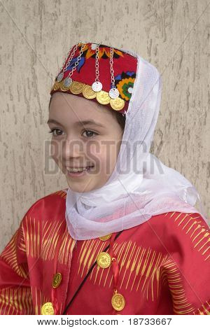 Girl in traditional Turkish - Ottoman clothes