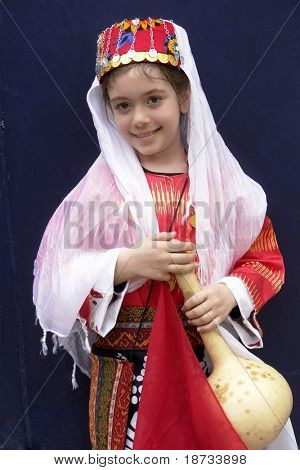 girl in traditional turkish ottoman clothes