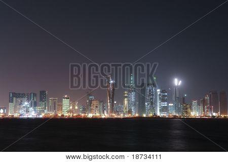 Doha Capital city of Qatar - Nightscene