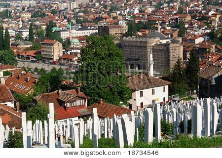 Sarajevo, the capital city of Bosnia and  Herzegovina, landscape view