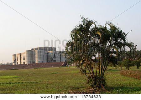 Parliament house building in Dhaka Bangladesh