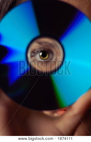 Eye And Compact Disk