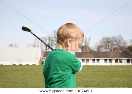 Golfing Toddler