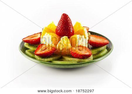 orange, kiwi and strawberry