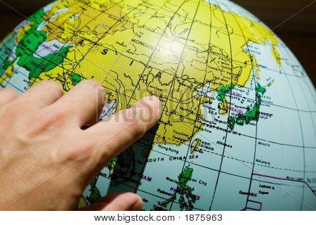 Globe Map China