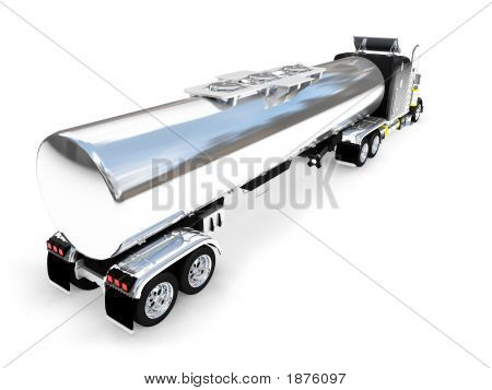 Isolated Big Car Back View 01