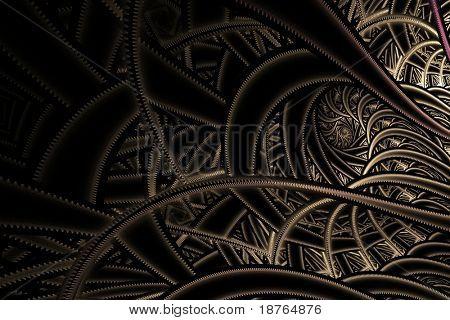 fractal abstraction on black background