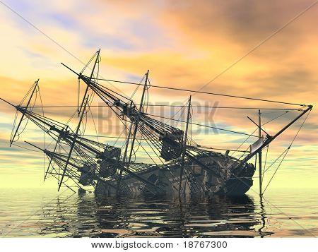 barco que se hunde