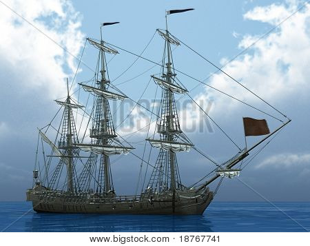 la nave en el mar sin velas
