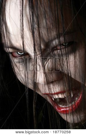 female vampire, hungry for blood