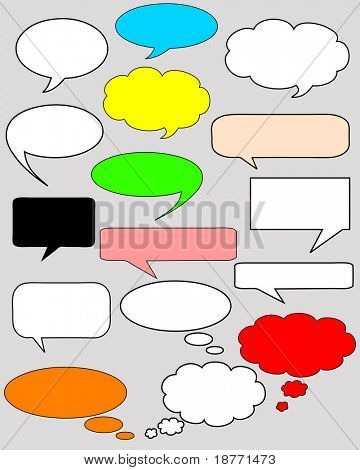 vector illustration of dialog bubbles