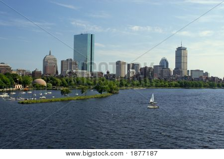Sailboats Under The Skyline