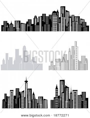 vector illustration of city background designs