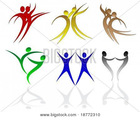 illustration of abstract dancing figure