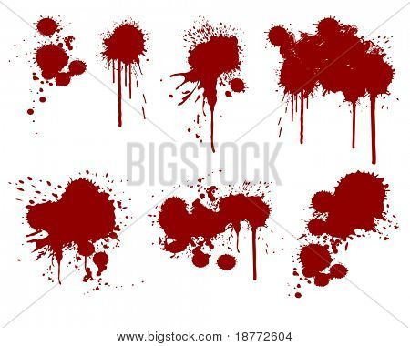 vector illustration of assorted ink splatters