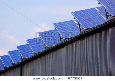 Solar energy panels on a rural barn