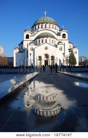 Neue orthodoxe Kirche in Bekgrade in Serbien