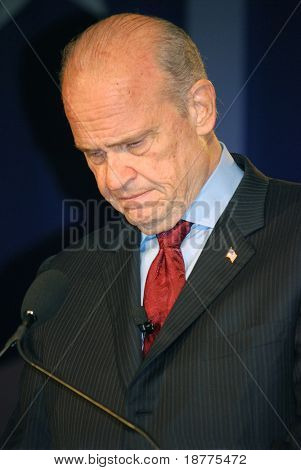WASHINGTON DC â?? OCT 19: Senator Fred Thompson speaking at â??Washington Briefing 2007: Values Voter Summitâ? on October 19, 2007, at the Hilton Hotel in downtown Washington DC.