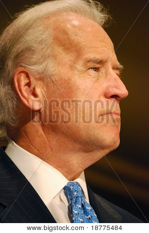 MCLEAN, VA - NOV 30, 2007: Senator Joe (Joseph) Biden speaking at the Democratic National Committee (DNC) meeting on November 30, 2007, in McLean, Virginia.