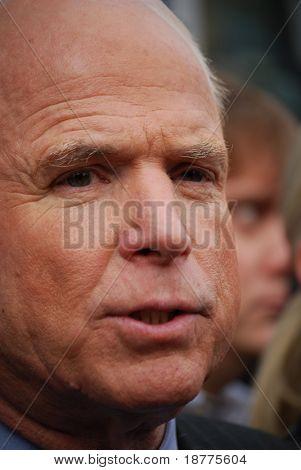 Senator John McCain, vertical closeup