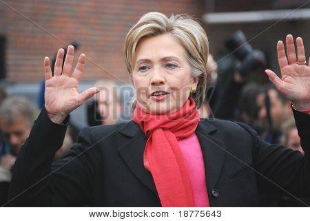 Senadora Hillary Rodham Clinton, Nova York, esposa do presidente Bill Clinton, candidato presidencial, ca