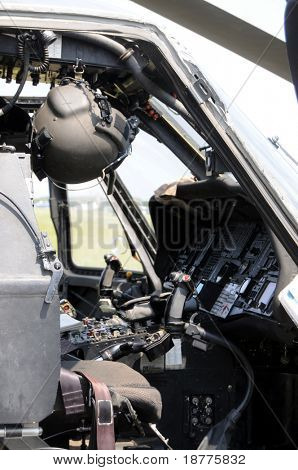 KILL DEVIL HILLS, NC - AUG 5: Cockpit of Sikorsky UH-60 Black Hawk helicopter, based at 82nd Airborne Div. at Fort Bragg, visiting Wright Brothers Nat. Mem. on Aug 5, 2008.